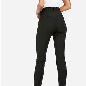Black skinny dress up pants from express .